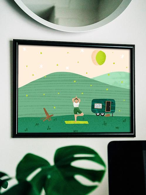 Pomelo Field Print by Laura Stephens