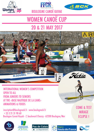 SAVE THE DATE ! REGISTRATION WOMEN CANOE CUP 2017