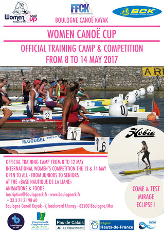 WARNING - WOMEN CANOE CUP WILL TAKE PLACE FROM 8 TO 14 MAY