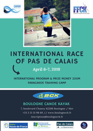 SAVE THE DATE - REGISTRATION INTERNATIONAL RACE 2019
