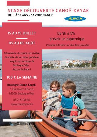 STAGES DÉCOUVERTE ENFANTS - ETE 2019