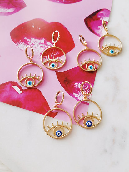 Esma Turkish Evil Eye Earrings