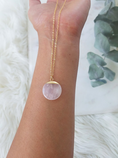 Gold Filled Rose Quartz Necklace Wholesale