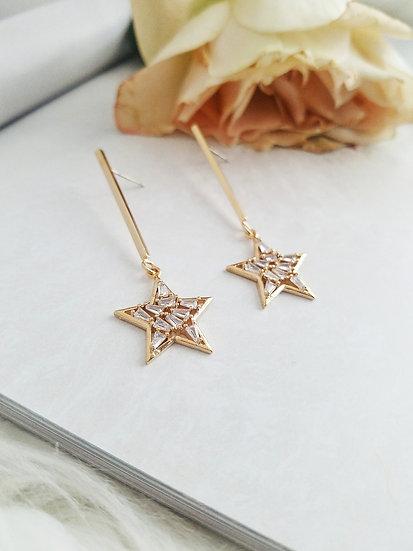 Celeste Star Drop Earrings