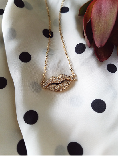 CZ Lip Necklace Wholesale