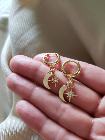 Céleste Moon and Star Hoops Wholesale