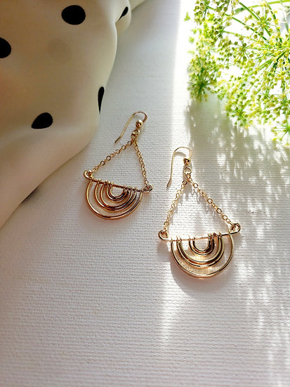 Nola Earrings Gold Filled