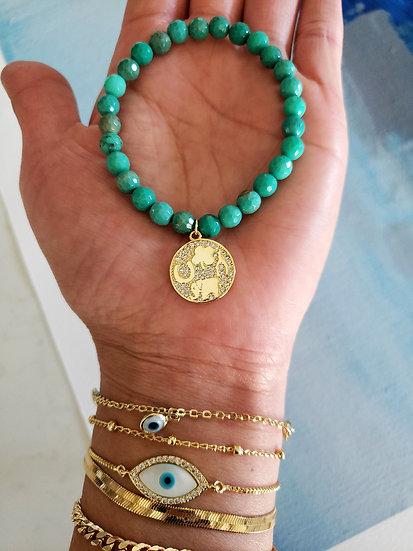 Chrysoprase Talisman Bracelet Wholesale