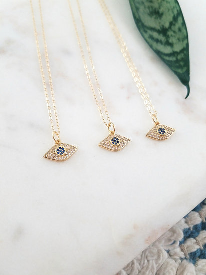 Gold Filled Evil Eye Necklace Wholesale