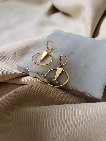 Frankie Earrings. Minimal Geometric Earrings