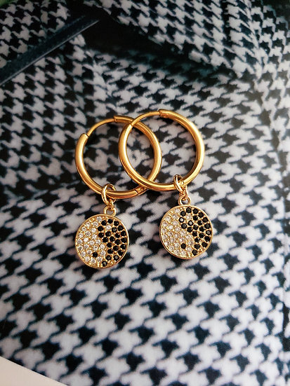 Yin Yang CZ Hoops Wholesale
