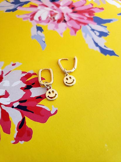 Smile Emoji Mini Hoops Earrings