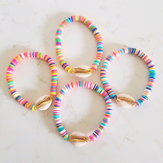 Colorful Cowrie Shell Bracelet