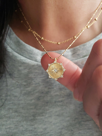 North Star Coin Necklace