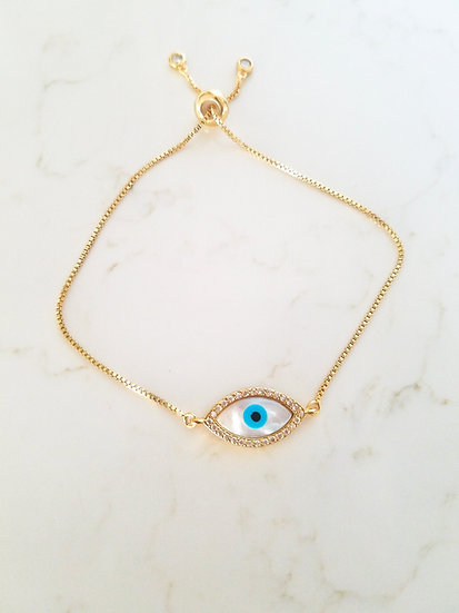 Lucky Eye Bolo Bracelet