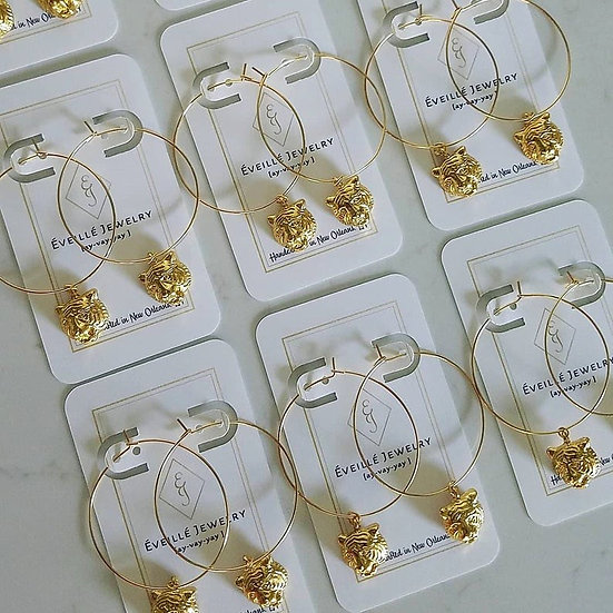 Gold Tiger Hoops Wholesale