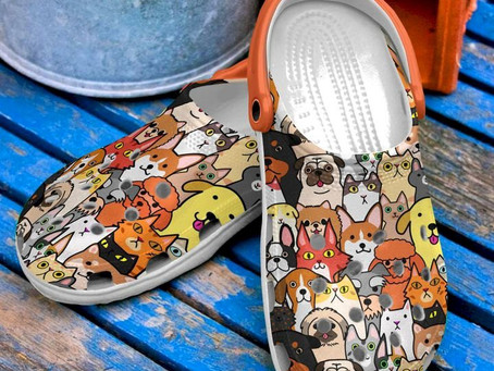 Buy - Vet Tech Cats And Dogs Doodles Crocs Clog Shoes