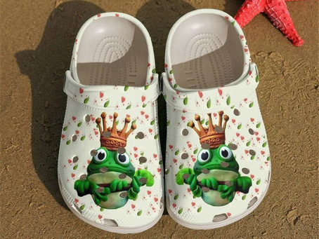 Buy - Frog Lovely King Crocs Clog Shoes