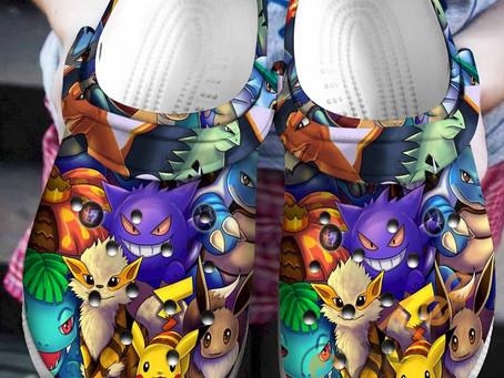 Best - Pokken Tournament Crocs Clog Shoes