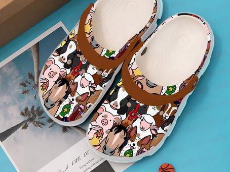 Buy - Farmer Animals Doodle Crocs Clog Shoes
