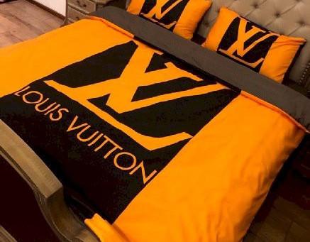 Best - LV Luxury Brand Louis Vuitton Type 165 Bedding Sets Duvet Cover