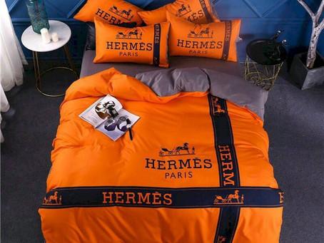 Best - Hermes Paris Luxury Brand Type 63 Hermès Bedding Sets Duvet Cover