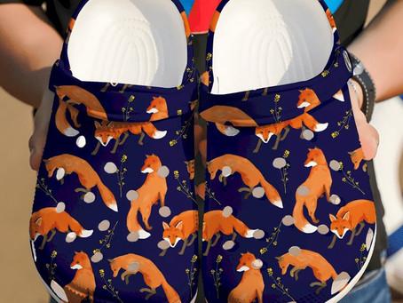 Shop - Fox Art Crocs Clog Shoes