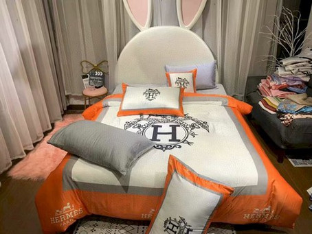 Hot - Hermes Paris Luxury Brand Type 61 Hermès Bedding Sets Duvet Cover
