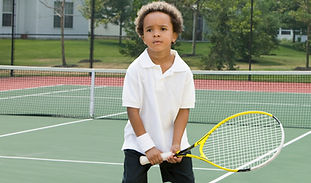 Boy Holding Racket