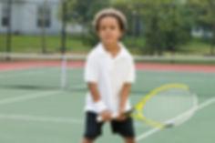 Boy Holding Racket