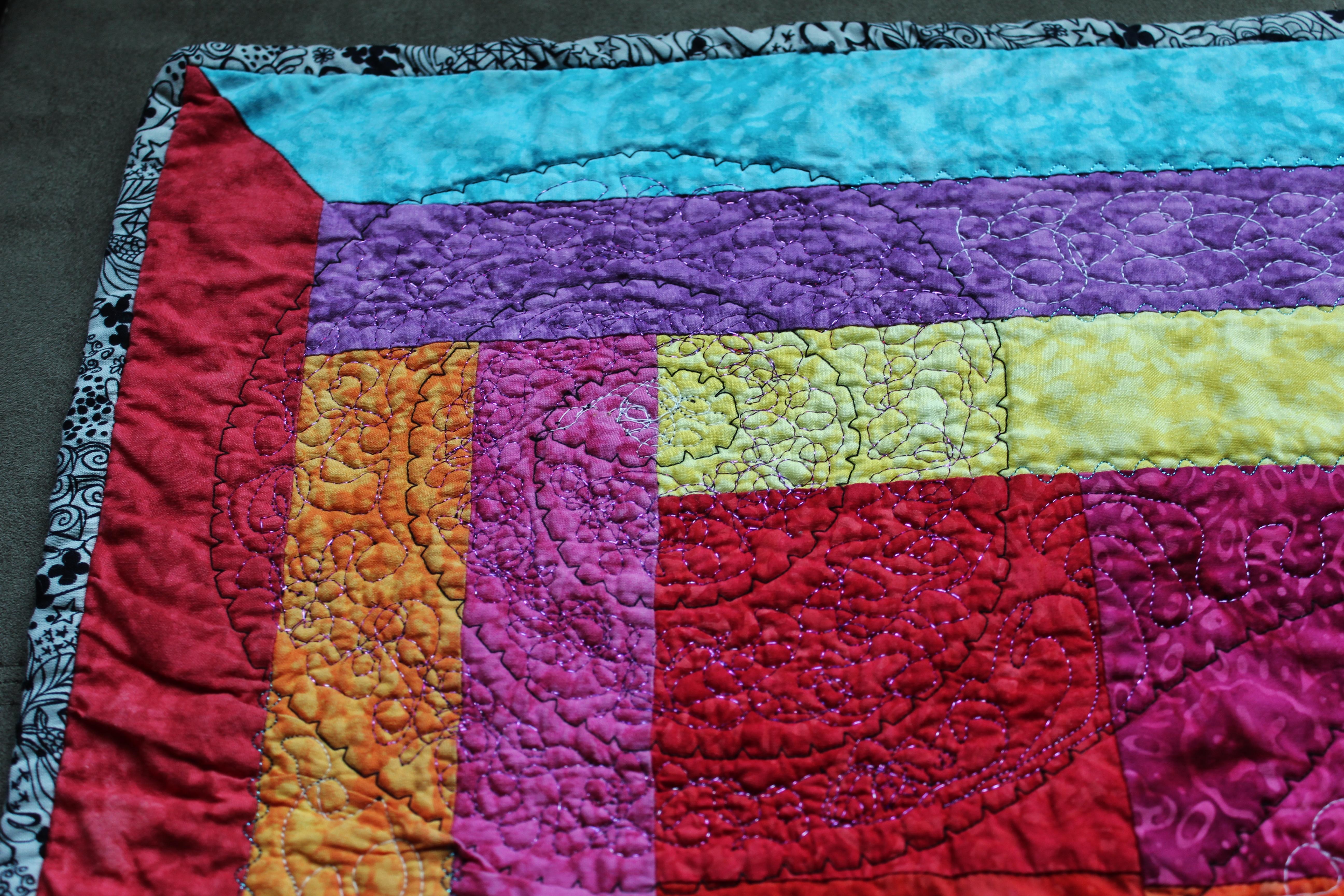 First quilt close up