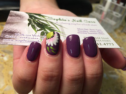 Flower accent nail!