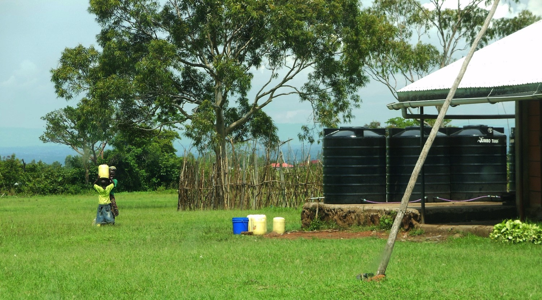 Rain water harvesting in Ndhiwa