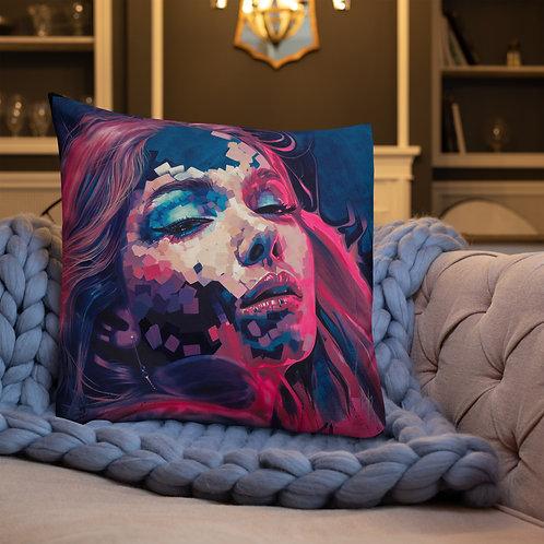 Neon Dreams Premium Pillow