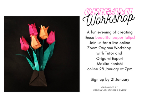 3 Places Available for the Fun Online Origami!
