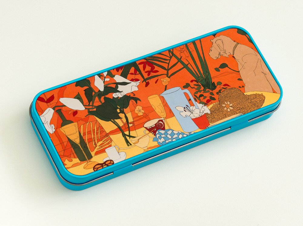 Indian Summer by Jane Pencil Case tin available in the shop to buy