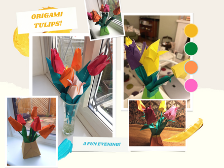 Our fun and first Origami Online Lesson!