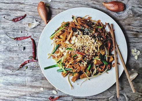 Healthy Vegetarian_vegan menu; Padthai noodle with smoke tofu and mixed vegetable - sprout...h c.jpg
