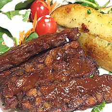 BBQ Tempeh with Scalloped Potatoes