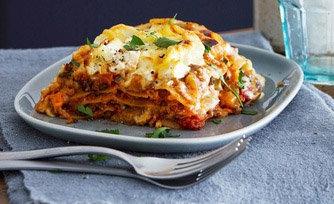Sausage + Veggie Lasagna (Vegan)