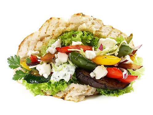 Grilled Veggie Gyros (GF option/Vegan)
