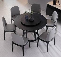 Round Black Table