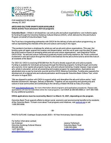 2021 Media Release CKCA Funding Programs