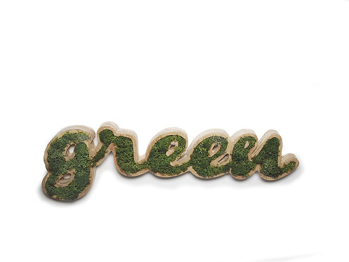 Placa Decorativa Moss Lettering -GREEN