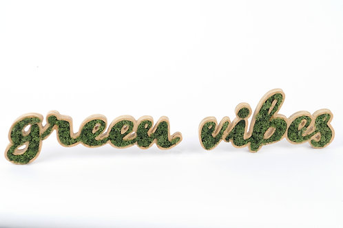 Placa Decorativa Moss - GREEN VIBES