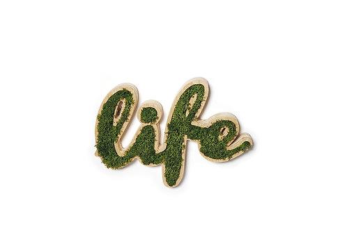 Placa Decorativa Moss Lettering - LIFE