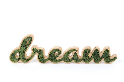 Placa Decorativa Moss Lettering - DREAM