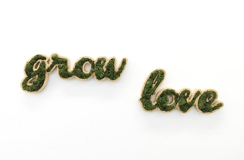 Placa Decorativa Moss - GROW LOVE