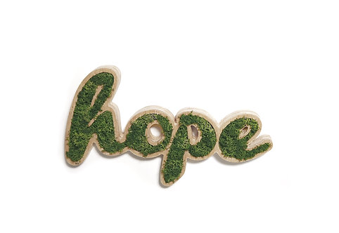 Placa Decorativa Moss Lettering - HOPE