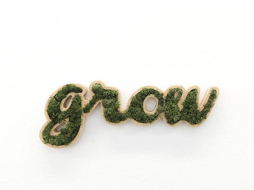 Placa Decorativa Moss Lettering -GROW